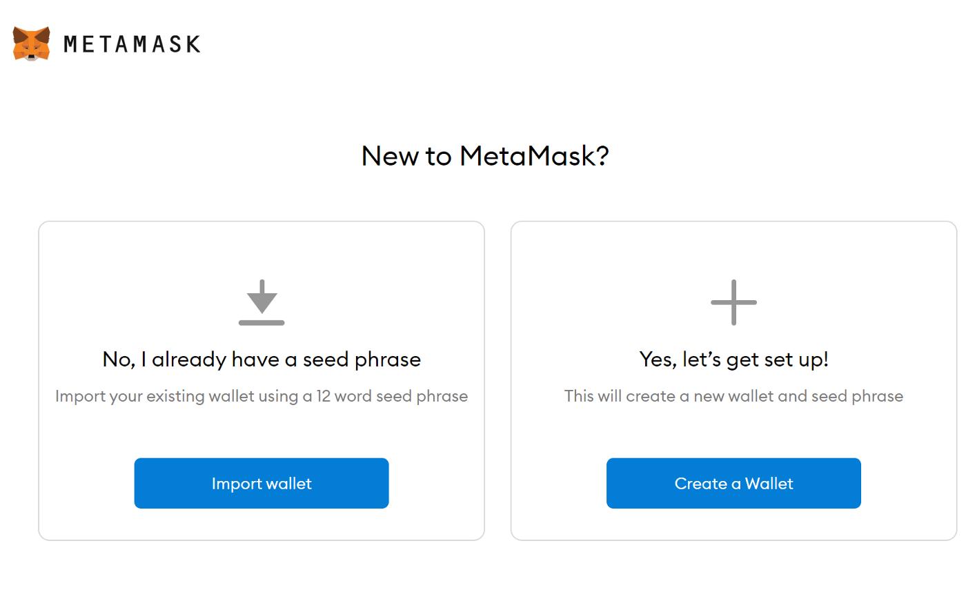 Metamask ustvarjanje denarnice